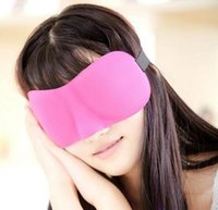 Wholesale Factory Price D Sleep Rest Travel Eye Mask Sponge Cover Blindfold Shade Eyeshade Sleep Masks Colors