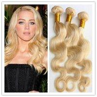 Wholesale 613 Hair Blonde Hair Extension Brazilian European Human Hair Body Wave Hair Weft g Bundle Hair No shedding