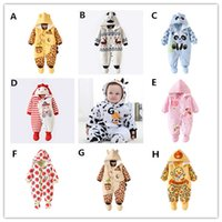baby deer infant shoes - Newborn Baby cotton Hooded Warm Rompers Infants Christmas Deer Warm Jumpsuit Outfits Baby Cartoon Removabel hat and shoes Romper sets m