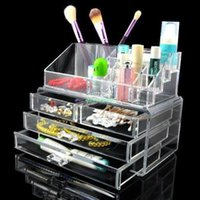 Wholesale Clear Acrylic Makeup Holder Cosmetic Organizer Drawer Storage Jewellery Box Acrylic Makeup Holder Cosmetic Organizer Drawer