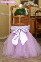 Wholesale 46 color Birthday High Chair Skirt Polyester wedding chair skirt in Height in length Customizable chair tutu