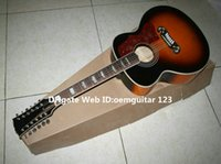 12 string acoustic guitar - 12 strings SJ200 Honey Burst Acoustic Guitar New Arrival High Quality OEM From China