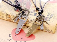 adjustable saw - In the latest saw alloy pendant necklace length is adjustable leather factory price