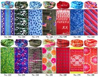 Cheap Free Shipping 2016 new Wholesale Mixed Styles 100% Polyester Multifunctional Seamless Sport Bandanas UV Protection magic scarf DHL,UPS, EMS