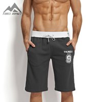 athletic shorts with pockets - New Fashion Cotton Men s Jogger Short Athletic Men s Short With Pocket Casual Letter Print Athletic Elastic Waist Shorts