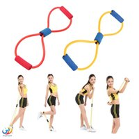 Wholesale Resistance Type Muscle Chest Expander Rope Workout Pulling Exerciser Fitness Exercise Tube Sports Yoganew hot selling