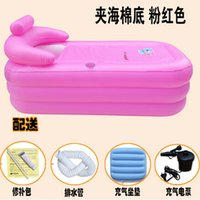 Wholesale Adult Spa folding Portable bathtub inflatable bath tub with cushion Electric Pump