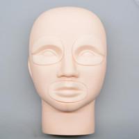 Wholesale Semi Permanent Makeup Tattoo Eye Lip D Practice Skin Mannequin Head Training supplies