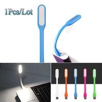 Wholesale Pretty LED Book Light Portable Reading Lamp USB Flexible booklight Mini Bulb