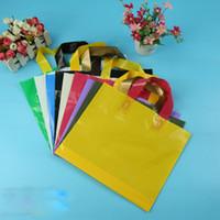 apparel plastic bags - cm High quanlity environmental protection Plastic Shopping Bags Apparel Promotion handle Bag Colorful folding bag