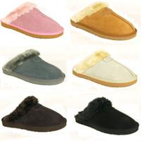 venda por atacado botas curtas-Quente quente chinelos de algodão Homens e chinelos Womens botas curtas botas femininas botas de neve grife botas de chinelos de algodão interior de couro