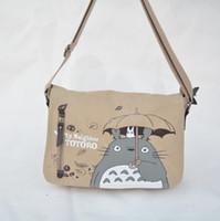 anime messenger - 2016 Anime My Neighbor Totoro Messenger Canvas Bag Shoulder Bag Sling Pack My Neighbor Totoro Bag Cosplay
