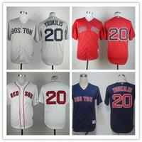 Wholesale cheap MLB baseball Jerseys red sox jerseys YOUKILIS Baseball Jerseys customized jerseys freeshipping