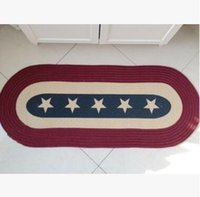 Wholesale Ground Mat for Entry Door American Countryside Ellipse Laundry Rug Floor Mats Carpet NEW