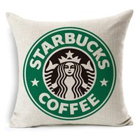 Wholesale New Home Fashion Sofa Decor Cotton Linen Pillow Cases Starbucks Floral Cushion Covers Modern Simple Pillow Cases
