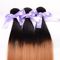 Wholesale silky straigh ombre brazilian human hair