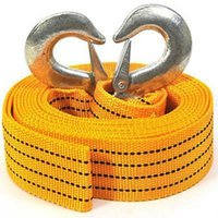 Wholesale 4m ton Car Vehicle Boat Tow Strap Towing Rope Hauling Cable String with Hooks