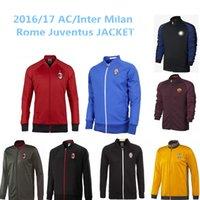 ac sleeves - AC Milan Inter Milan Rome Juventus soccer jacket LONG sleeve Tracksuit football shirt
