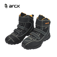 Wholesale New ARCX NEW men Motorcycle boots Road Racing Boots Riding Hiking Motorcycle shoes Riding Protection Gear Racing Bootie