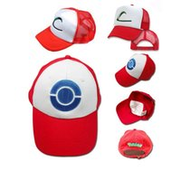 Wholesale hot fashion poke cotton plain weave hiphop anime games baseball cap adult costume ash hat ash ketchum hat M0002