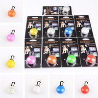 bell equipment - 2016 new Dog LED Flash Safety Night Light Keychain Tag Anti lost Flashing Dogs Blinker Collars Equipment color Dog Tag Pet Supplies B1018
