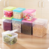 Wholesale New Food snack Storage Box organizer Sealed Crisper Grains Tank cans container with a lid for food kitchen accessories