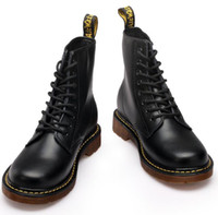Wholesale Fashion Winter Leather martin Boots Fur Martin High Top Casual Shoes Men s Boots Ankle Botas Brand Motorcycle Boots Plus Size