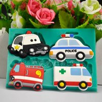 Wholesale cartoon cars cookie cutter set silicone fondant molds chocolate mold Baking sugar craft cake decoration tool biscuit pastry modeling moulds