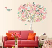 Wholesale Removable Flowering Tree Wall Stickers Nursery Wall Decal Home Decor Wall Stickers Decals Baby Room Wall Art Stickers