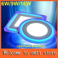 Wholesale New LED Panel Downlight W W W Model LED Lamp Panel Light Double Color LED Ceiling Recessed Lights Indoor Lighting Bulb
