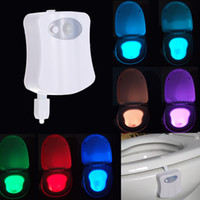 Wholesale 8 Colors LED Motion Activated Toilet Nightlight Sensitive Dusk to Dawn Battery operated Lamp L1420