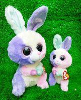 beanie basket babies - New TY Beanie Boos Bloom Bunny Basket Beanie Stuffed Toys CM Rabbit Plush TY Plush Animals Baby Toys For Girls Kids Gifts