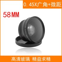 Cheap Orsda 58mm Wide Angle Macro Lens for Canon EOS 700D 650D 600D 550D 100D 60D 70D 5D III 6D 7D Rebel T5i 0.45X