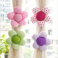 Wholesale 90cm Strap Cloth Floral Window Curtain button Tieback Hook Clasp Clip Curtain Accessories YH0001