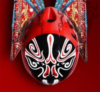 Wholesale Peking Opera faces spotted on cycling athletes helmets in Rio Summer Olympics styles Chinoiserie sports helmets