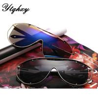 amber s - 5 From The Grant New Stylish Sports Mirror Sunglasses Color Film Colorful S Metal Siamese Fashion Sunglasses L