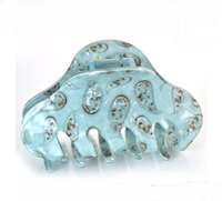 Wholesale Big Handmade Plastic Hair Pins and Clips Brown Arced Large Hair Claw Antique Jaw Clamp Fashion Accessory