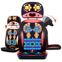 Wholesale Cervical spine massager neck lumbar back massage cushion household pillow multi functional chair cushion High quality PU material
