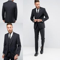 business wear - Custom Made Men Suits Modest Best Men Groom Tuxedos Formal Suits Formal Suit Groom Tuxedos Business Men Wear Jacket Pants Vest