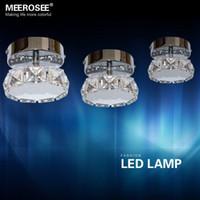 Wholesale Modern W LED Crystal Ceiling Lights Fixture Luminaria Round Shape LED Lights Lighting Mini Aisle Corridor Decorating LED Lamp