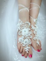 anklet sizes - Free Size Crystal Cheap Barefoot Sandals Anklet Chain With Toe Retaile Sandbeach Beading Wedding Bridal Bridesmaid Foot Jewelry