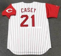 baseball casey - SEAN CASEY Cincinnati Reds Majestic Throwback Home Baseball Jersey