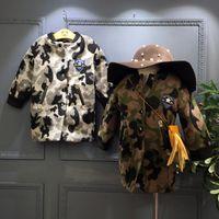 american label - 2016 new winter cotton padded coat girls European style big money camouflage woolen coat label