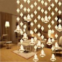 Wholesale 20 Meter Color Fashion Wedding Party Home Decorations Arylic Glass Crystal Beads Garland Rope Curtain Hanging on Screen