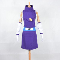 Cheap Cartoon Character Costumes New Shippuden Naruto Cosplay Ino Yamanaka Cosplay Costume Japanese anime Purple Dress