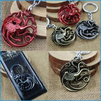 antique car colors - Game of Thrones House Targaryen Pendant Keychain Fire and Blood Dragon Game of throne Cool Vintage Jewelry Three Colors