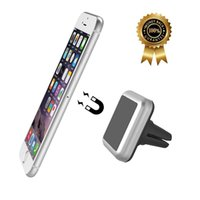 Wholesale Magnetic Air Vent Mount Auto Smartphone Holder Mobile Phone Car mount for iPhone s Plus s s c Silver Universal