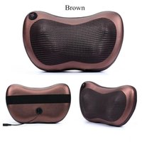 Wholesale Neck Massager Electric Nap Pillow Massage Pillow Infrared Therapy massage pillow AC220V DC12V for Home Car with retail box