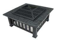 backyards patios - Backyard Patio Garden Outdoor quot Metal Firepit Backpacking Camping Square Stove Fire Pit with Mesh Cover