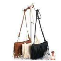 Wholesale Hot Sales Fashion Women tassels Fringe Faux Suede Shoulder Messenger Cross body Bag Handbag Purse PU Leather Bx7